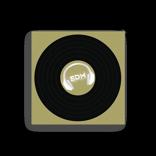 Square Canvas 12x12 / 16x16  - EDM J to F Record - Gold