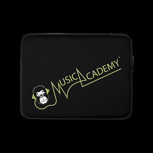 Laptop Case Zip Up - GS Music Academy Ape Text - Black