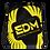 Thumbnail: Black Drawstring Bag - EDM Journey to Freedom Large Print - Yellow