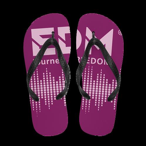 Flip-Flops Plum EDM J to F Sound Bars Print - Pink