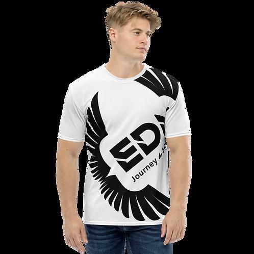 Men's T-shirt White - EDM Journey to Freedom Large Print - Black