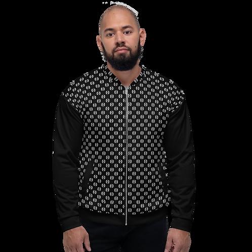 Men's Unisex Fit Bomber Jacket - EDM Journey to Freedom Pattern Black / White