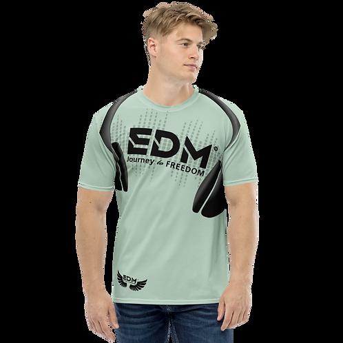 Men's T-shirt - EDM J to F Headphones Black - Sage