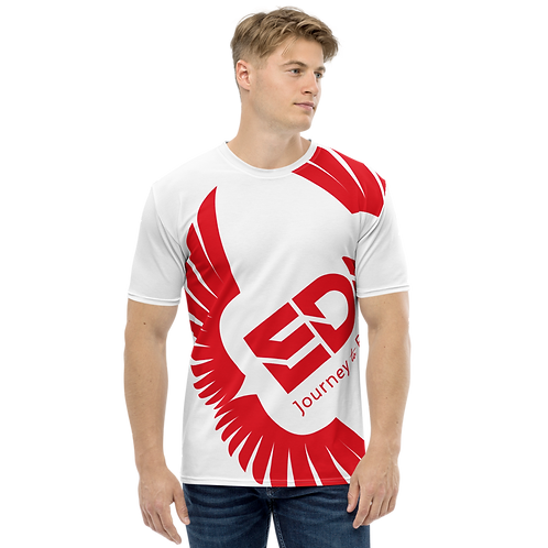 Men's T-shirt White - EDM Journey to Freedom Large Print - Red