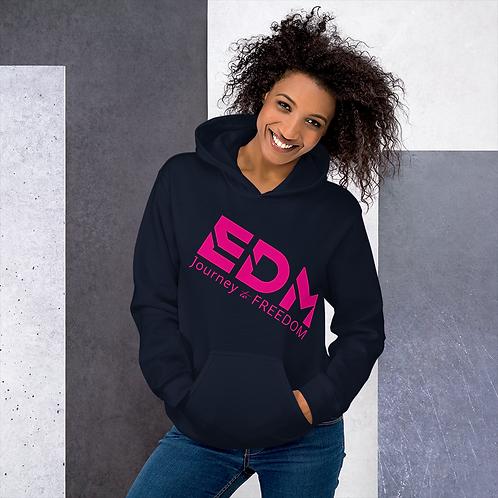 Women's Unisex Hoodie EDM J to F Style 3 Print Hot Pink - Various