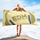 Thumbnail: Beach Towel Pink - EDM J to F Headphones Gold - Lemon