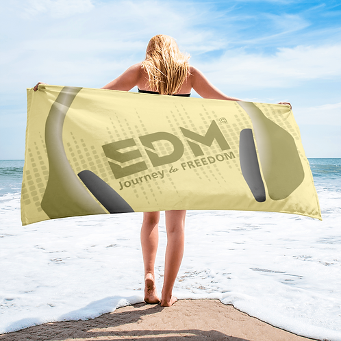 Beach Towel Pink - EDM J to F Headphones Gold - Lemon