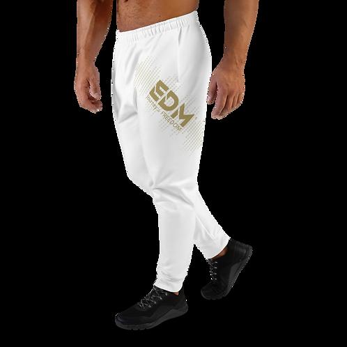 Men's Joggers - EDM J to F Sound Bars Gold - White