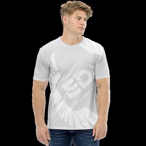 Men's T-shirt Ice Grey - EDM Journey to Freedom Large Print - White