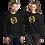 Thumbnail: Men's Sweatshirt - EDM J to F Square Wings Logo - Yellow / Various