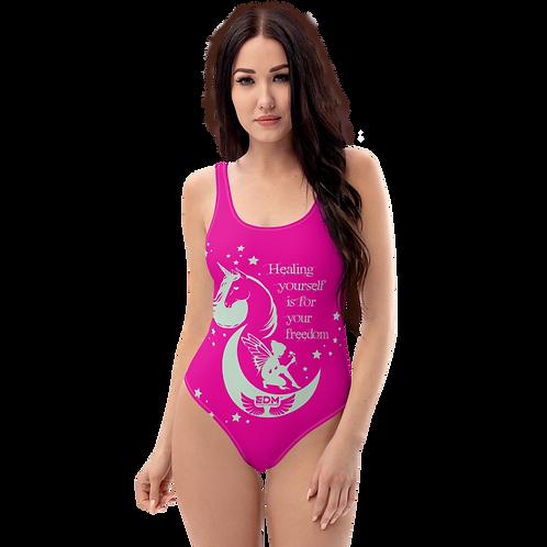 Swimsuit - Unicorn Fairy Sage - Pink
