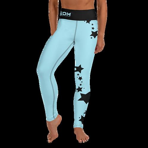 Women's Leggings Black Star - EDM J to F Sky Blue