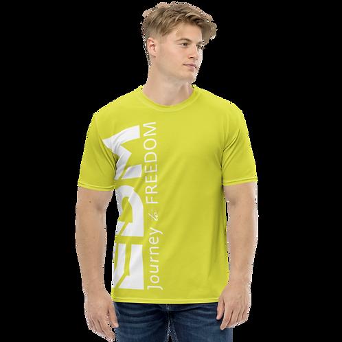 Men's T-shirt Lime - EDM Journey to Freedom Large Print - White