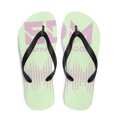 Flip-Flops Pink EDM J to F Sound Bars Print - Mint