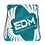Thumbnail: Teal Drawstring Bag - EDM Journey to Freedom Large Print - White