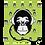Thumbnail: Fleece Throw Blanket - GS Music Academy Ape DJ Large & Pattern - Green
