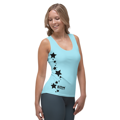 Women's Vest - EDM J to F Black Star - Sky Blue