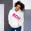 Thumbnail: Women's Unisex Hoodie EDM J to F Text Print Hot Pink - Various