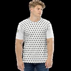 Mens T-shirt - GS Music Academy Ape DJ Pattern - White