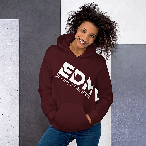 Women's Unisex Hoodie EDM J to F Logo white - Various