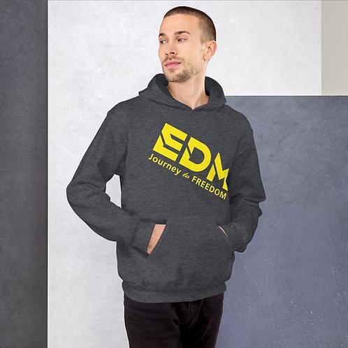 Mens Unisex Hoodie EDM J to F Logo Yellow - Various
