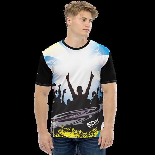 Men's T-shirt - EDM J to F Crowd - Black/Multi