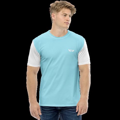 Men's T-shirt - Sky Blue/White - EDM J to F Logo