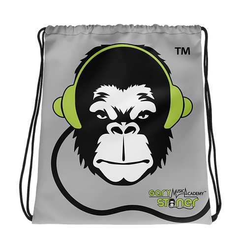 Drawstring Bag - GS Music Academy Ape DJ - Grey