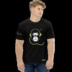 Mens T-shirt - GS Music Academy Ape DJ - White