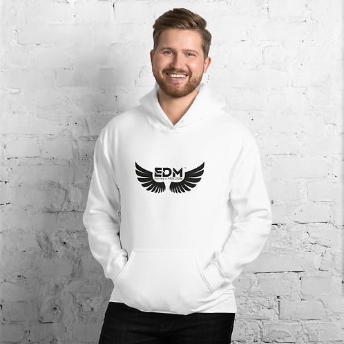 Mens Unisex Hoodie EDM J to F Wings Logo Print Black -Various