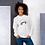 Thumbnail: Womens Sweatshirt - EDM J to F Headphones Pink - White