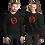 Thumbnail: Womens Sweatshirt - EDM J to F Square Wings Logo - Red / Various