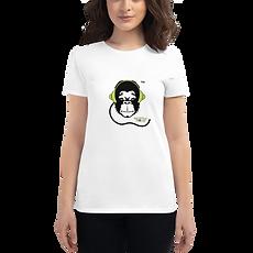 Womens T-Shirt - GS Music Academy Ape DJ - White