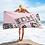 Thumbnail: Beach Towel / Towel - EDM J to F Snake Print Logo - Pink