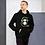Thumbnail: Mens Unisex Hoodie - GS Music Academy Ape DJ - Black