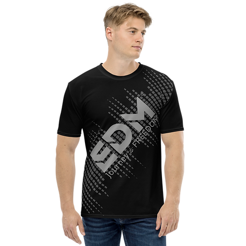 Men's T-shirt - EDM J to F Sound Bars - Grey/Black