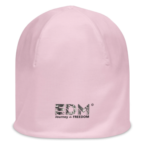 Womens Beanie - EDM J to F Snake Print Pink