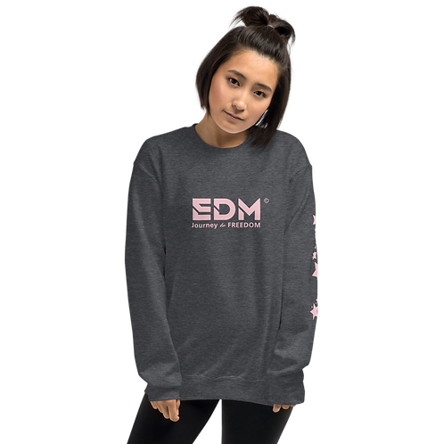Womens Sweatshirt - EDM J to F No Wings Logo Star Baby Pink - Various
