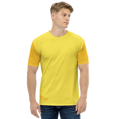 Men's T-shirt - Yellow/Light Orange - EDM J to F Logo