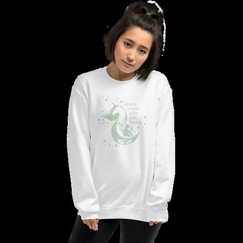 Women's Sweatshirt - Unicorn Fairy Sage - White