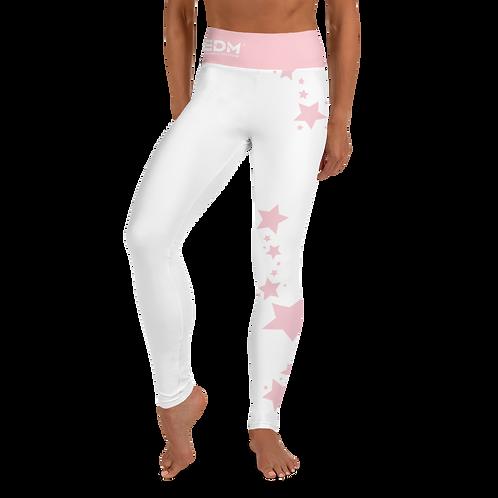 Women's Leggings Baby Pink Star - EDM J to F White
