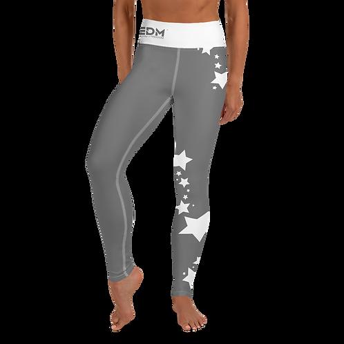 Women's Leggings White Star - EDM J to F Grey