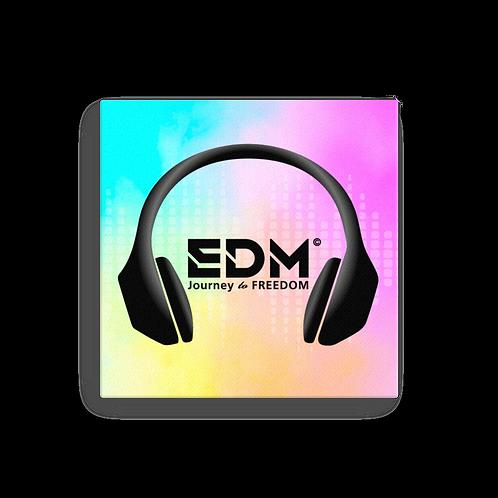 Canvas Assorted Sizes - EDM J to F Bright Tye Dye Headphones Print Black
