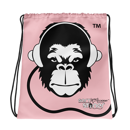 Drawstring Bag - GS Music Academy Ape DJ - Pink