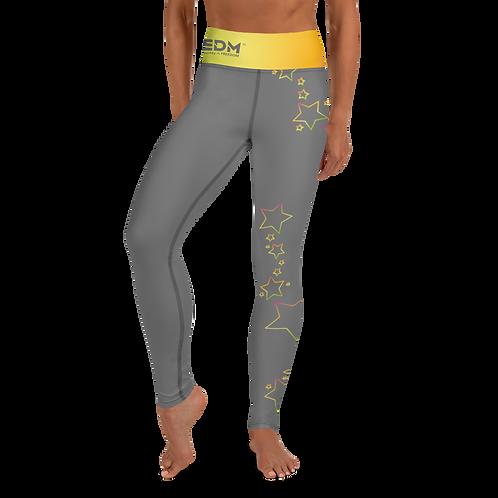 Women's Leggings Multi Rainbow Star Outline - EDM J to F Charcoal