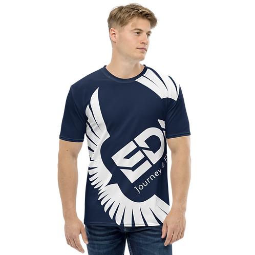 Men's T-shirt Navy - EDM Journey to Freedom Large Print - White