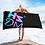 Thumbnail: Beach Towel / Towel - HS Design & Music Multi Gradient Logo - Black
