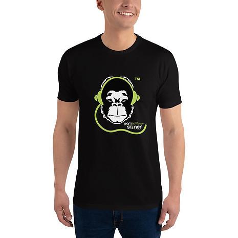 Mens T-shirt - GS Music Academy Ape DJ - Black