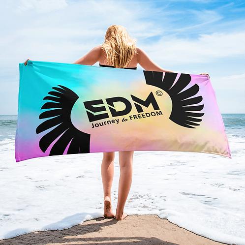 Beach / Bath Towel Tye Dye Pastels - EDM J to F Logo