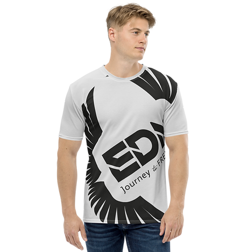 Men's T-shirt Ice Grey - EDM Journey to Freedom Large Print - Black